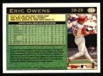 1997 Topps #266  Eric Owens  Back Thumbnail