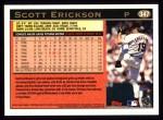 1997 Topps #347  Scott Erickson  Back Thumbnail