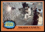 1977 Topps Star Wars #317   Filming explosions on the Death Star Front Thumbnail