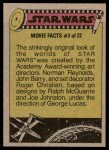 1977 Topps Star Wars #286   Cantina denizens! Back Thumbnail
