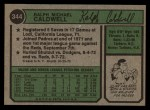 1974 Topps #344  Mike Caldwell  Back Thumbnail