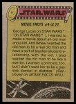 1977 Topps Star Wars #217   The Dark Lord of Sith Back Thumbnail