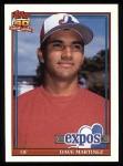 1991 Topps #24  Dave Martinez  Front Thumbnail