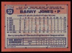 1991 Topps #33  Barry Jones  Back Thumbnail