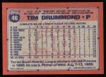 1991 Topps #46  Tim Drummond  Back Thumbnail