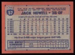 1991 Topps #57  Jack Howell  Back Thumbnail