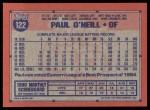 1991 Topps #122  Paul O'Neill  Back Thumbnail