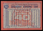 1991 Topps #155  Dwight Evans  Back Thumbnail