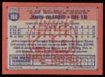 1991 Topps #168  John Olerud  Back Thumbnail
