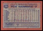 1991 Topps #179  Pete Harnisch  Back Thumbnail