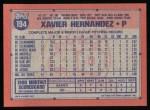 1991 Topps #194  Xavier Hernandez  Back Thumbnail