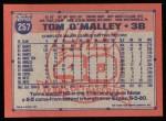 1991 Topps #257  Tom O'Malley  Back Thumbnail
