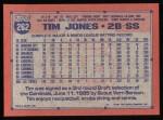 1991 Topps #262  Tim Jones  Back Thumbnail