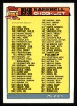 1991 Topps #263   Checklist 2 Front Thumbnail