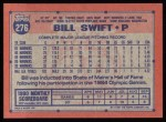1991 Topps #276  Bill Swift  Back Thumbnail