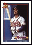 1991 Topps #306  Lonnie Smith  Front Thumbnail