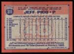 1991 Topps #311  Jeff Pico  Back Thumbnail
