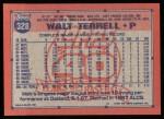 1991 Topps #328  Walt Terrell  Back Thumbnail