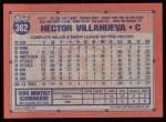 1991 Topps #362  Hector Villenueva  Back Thumbnail