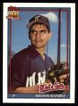 1991 Topps #378  Wilson Alvarez   Front Thumbnail