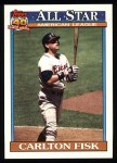 1991 Topps #393   -  Carlton Fisk All-Star Front Thumbnail