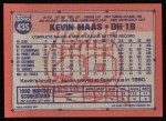 1991 Topps #435  Kevin Maas  Back Thumbnail