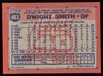 1991 Topps #463  Dwight Smith  Back Thumbnail