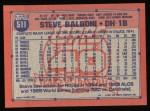 1991 Topps #511  Steve Balboni  Back Thumbnail