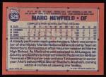 1991 Topps #529  Mark Newfield  Back Thumbnail