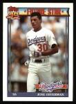 1991 Topps #587  Jose Offerman  Front Thumbnail