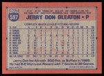 1991 Topps #597  Jerry Don Gleaton  Back Thumbnail