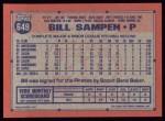 1991 Topps #649  Bill Sampen  Back Thumbnail