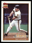 1991 Topps #665  Mike LaValliere  Front Thumbnail
