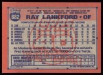 1991 Topps #682  Ray Lankford  Back Thumbnail