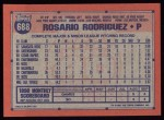 1991 Topps #688  Rosario Rodriguez  Back Thumbnail
