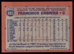 1991 Topps #693  Francisco Cabrera  Back Thumbnail