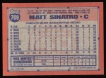 1991 Topps #709  Matt Sinatro  Back Thumbnail