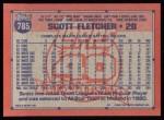 1991 Topps #785  Scott Fletcher  Back Thumbnail