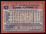 1991 Topps #9  Darrin Fletcher  Back Thumbnail