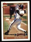 1991 Topps #40  Kevin Mitchell  Front Thumbnail