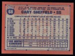 1991 Topps #68  Gary Sheffield  Back Thumbnail
