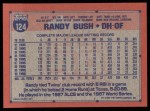 1991 Topps #124  Randy Bush  Back Thumbnail