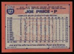 1991 Topps #127  Joe Price  Back Thumbnail