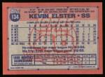1991 Topps #134  Kevin Elster  Back Thumbnail