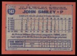 1991 Topps #143  John Smiley  Back Thumbnail