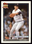 1991 Topps #161  Tim Leary  Front Thumbnail