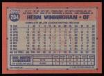 1991 Topps #204  Herm Winningham  Back Thumbnail