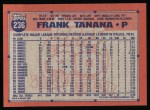 1991 Topps #236  Frank Tanana  Back Thumbnail