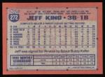 1991 Topps #272  Jeff King  Back Thumbnail