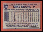 1991 Topps #294  Mike Moore  Back Thumbnail